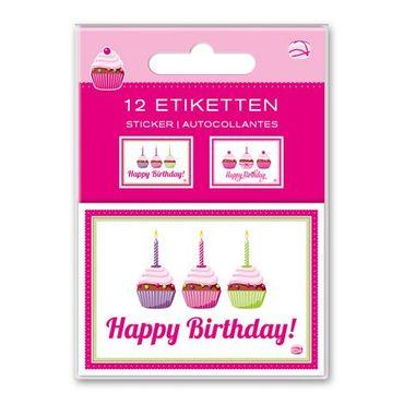 """12 wunderschöne, selbstklebende Etiketten """"happy birthday"""" von amazing ideas"""