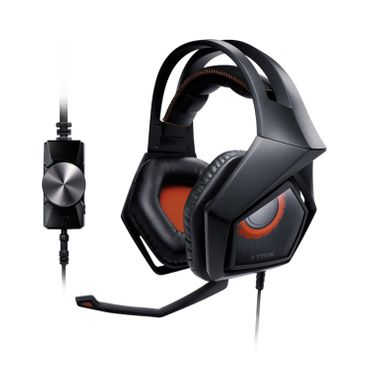 ASUS STRIX PRO Gaming Headset Environmental Noise Cancellation, black/rot – Bild 1