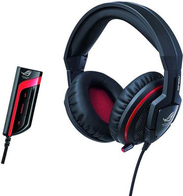 ASUS ROG ORION Pro Gaming Headset 7.1 virtual surround, schwarz/rot – Bild 1