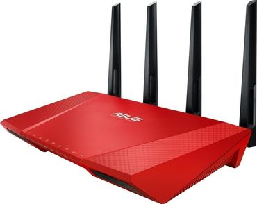 ASUS RT-AC87U Dual-Band WLAN-Router (2,4 GHz/5 GHz) 2334Mbps, red