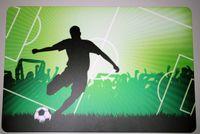 Schreibtischunterlage Fußballspieler auf Spielfeld 40 x 60 cm abwischbar Fußball