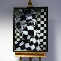 3D-Bild: Caro   Kunst, schwarz, weiß, Gesicht, Fotografie