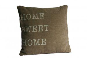 Kissen beige mit Füllung Home Sweet Home 45 x 45 cm