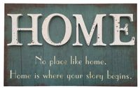 Wandbild Holz Home No place like home... 41 x 25 cm