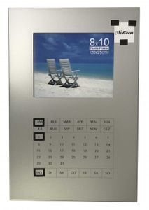Memoboard Memotafel Magnetbord Kalender und eigenes Foto silber 40 x 60 cm Art. Nr. 380 Fotorahmen Bilderrahmen