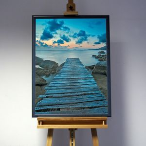 3D-Bild: Steg | Landschaft, See, Meer, Wasser, blauer Planet