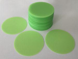 100 Bierdeckel Untersetzer grün Kunststoff Polypropylenfolie abwischbar Durchmesser 9,9 cm