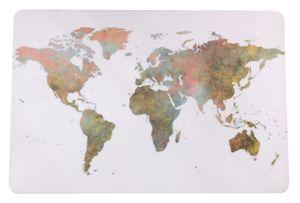 Schreibtischunterlage Kontinente auf weißem Grund / Welt / Weltkarte / Erde  40 x 60 cm abwischbar