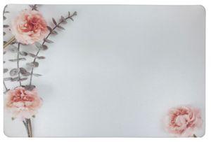 Schreibtischunterlage Blüten / Rose / Ranke / Blume auf hellem Grund 40 x 60 cm abwischbar