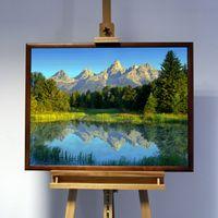 3D-Bild: Teton Range | Landschaft, Natur, Berg, See