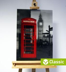 3D-Bild: Telefonzelle in London (Classic) | Big Ben, England, Great Britain, Themse