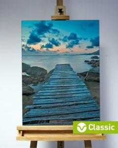 3D-Bild: Steg (Classic) | Landschaft, See, Meer, Wasser, Steg, Steine