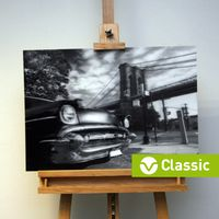 3D-Bild: Brooklyn Bridge (Classic) | New York City, Big Apple, Amerika, Oldtimer