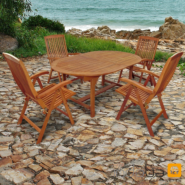 Gartenmöbel Set 5-teilig Sun Flair - Serie Sun Flair - IND-70000-SFSE5