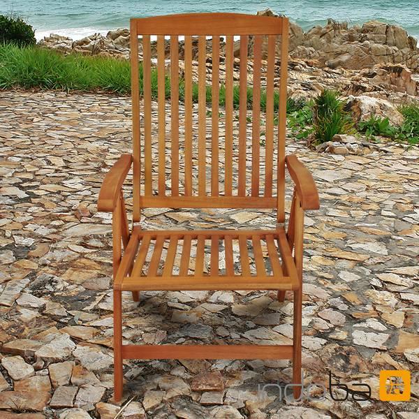 2 x Gartenstuhl Sun Flair - Hochlehner - Serie Sun Flair - IND-70002-ST – Bild 4