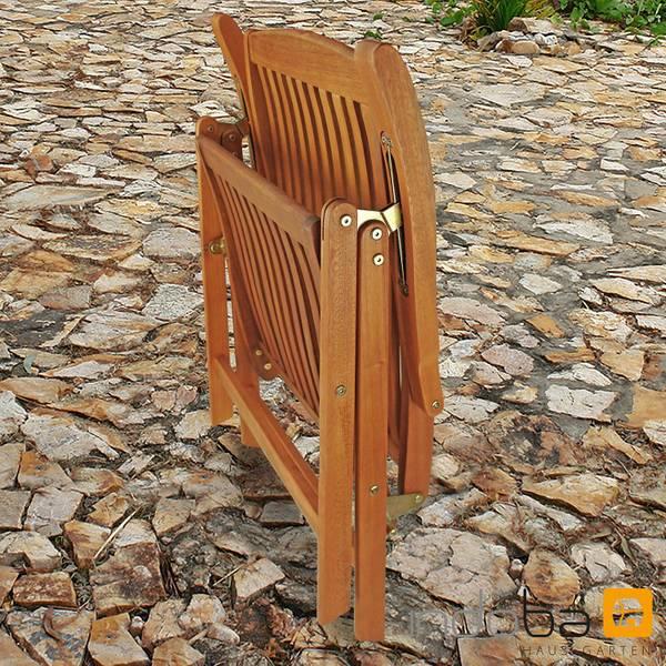 2 x Gartenstuhl Sun Flair - Hochlehner - Serie Sun Flair - IND-70002-ST – Bild 9
