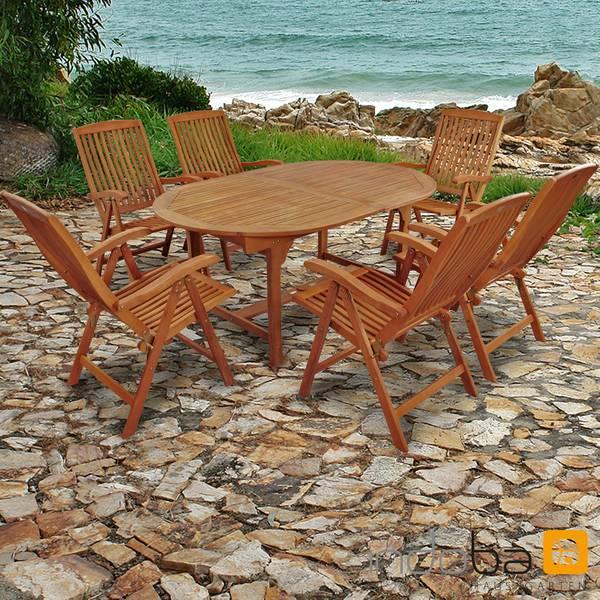 Gartenmöbel Set 7-teilig Sun Flair - Serie Sun Flair - IND-70010-SFSE7