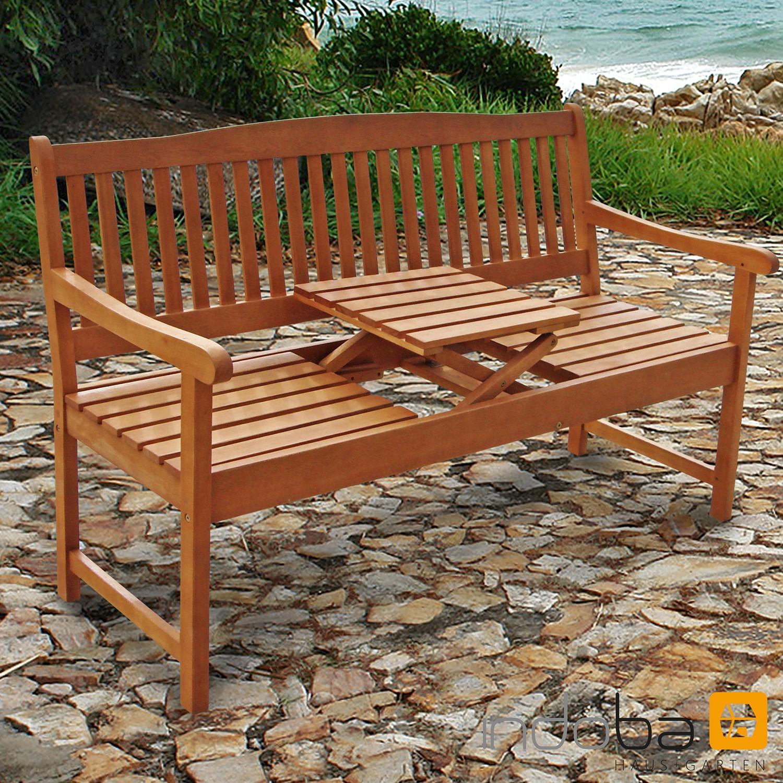 Gartenbank mit integriertem Tisch 3-Sitzer Sun Flair - Serie Sun Flair - IND-70032-GB3TI