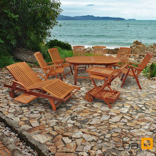Gartenmöbel Set 9-teilig Sun Flair - Serie Sun Flair - IND-70041-SFSE9SLSW