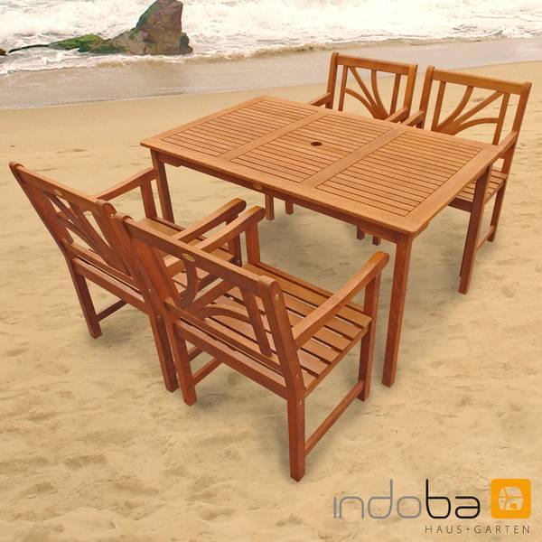 Gartenmöbel Set 5-teilig Lotus - Serie Lotus - IND-70060-LOSE5ST4
