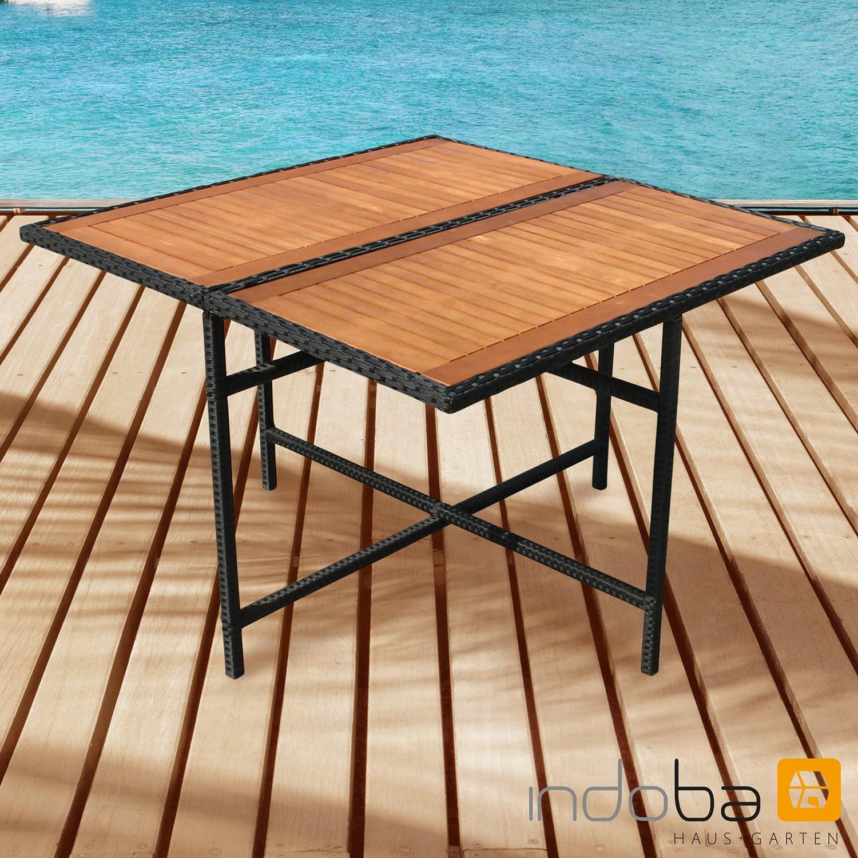 Gartentisch Faro - quadratisch - Polyrattan - Serie Faro - IND-70076-TI