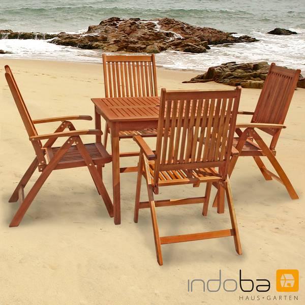 Gartenmöbel Set 5-teilig Bangor - Serie Bangor - IND-70079-BASE5Q