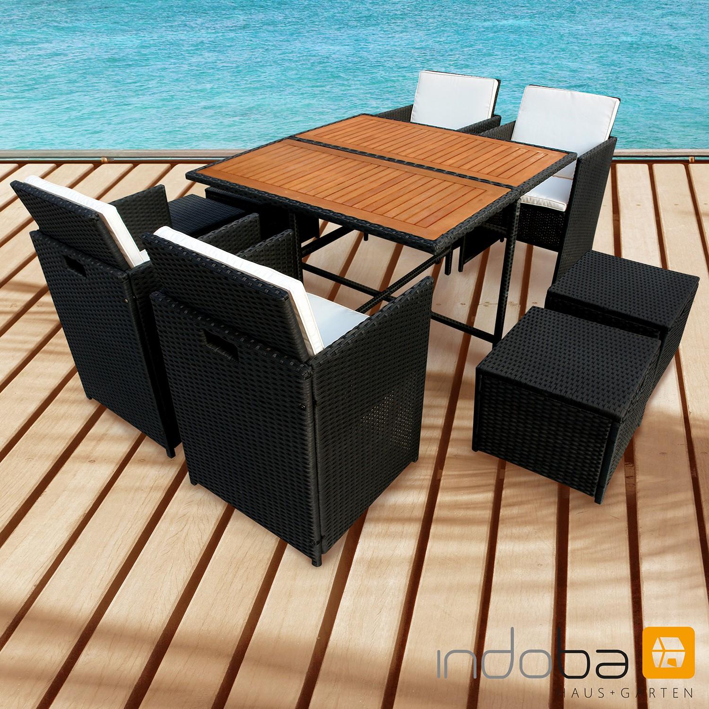 Gartenmöbel Set 9-teilig Faro - Polyrattan - Serie Faro - IND-70083-FASE9