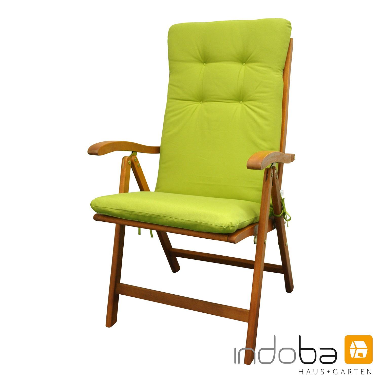 indoba - Sitzauflage Hochlehner - Serie Relax - Grün