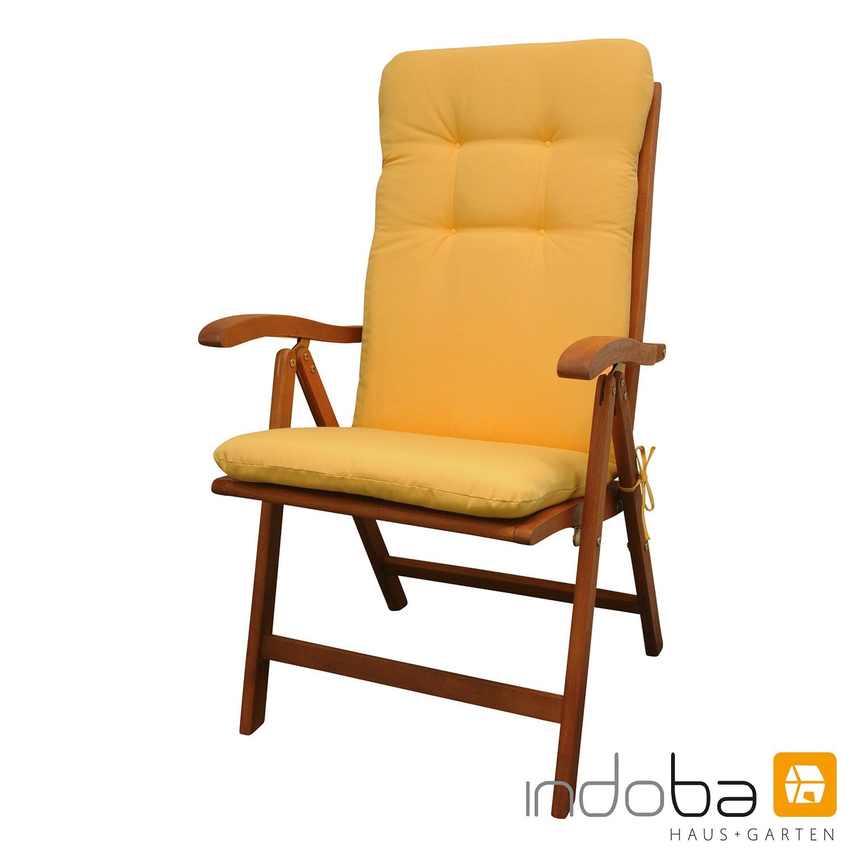 indoba - Sitzauflage Hochlehner - Serie Relax - Gelb
