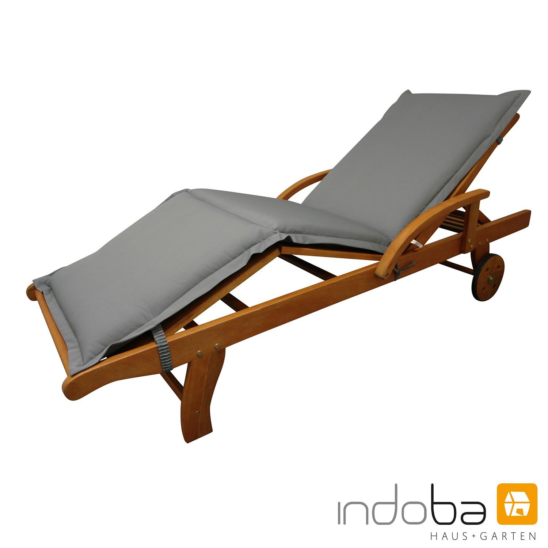 indoba - Liegenauflage Serie Premium  - extra dick - Grau