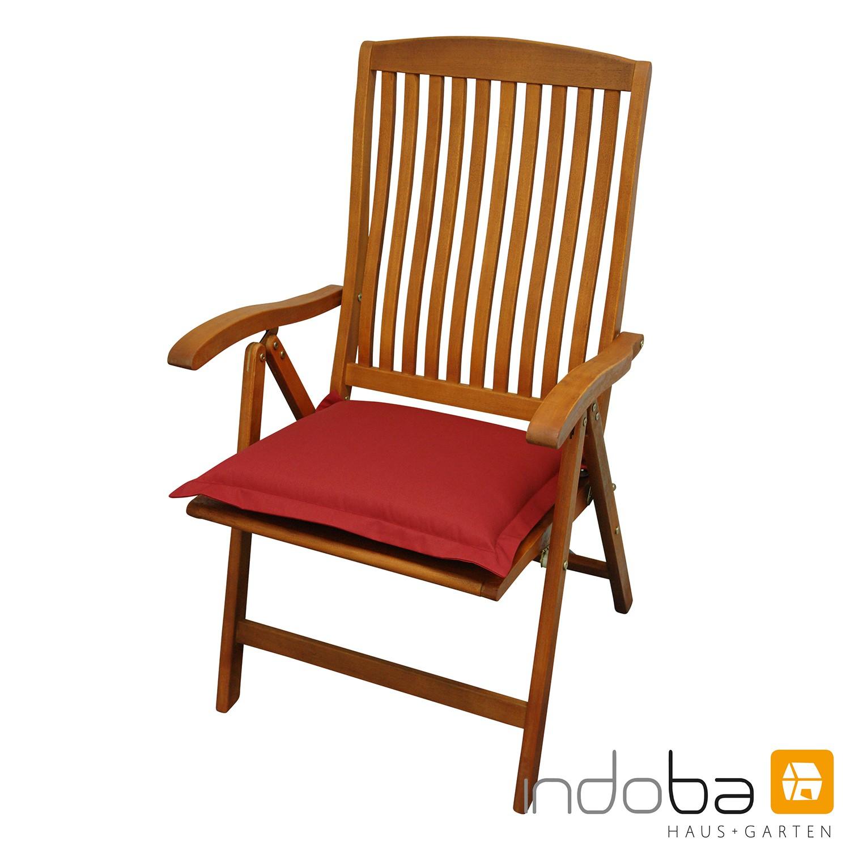 indoba - Sitzkissen Serie Premium - extra dick - Rot