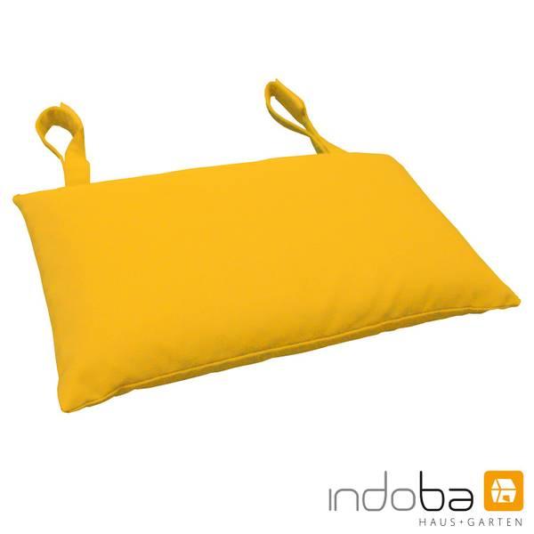 indoba - Kopfkissen Serie Premium - extra dick - Gelb