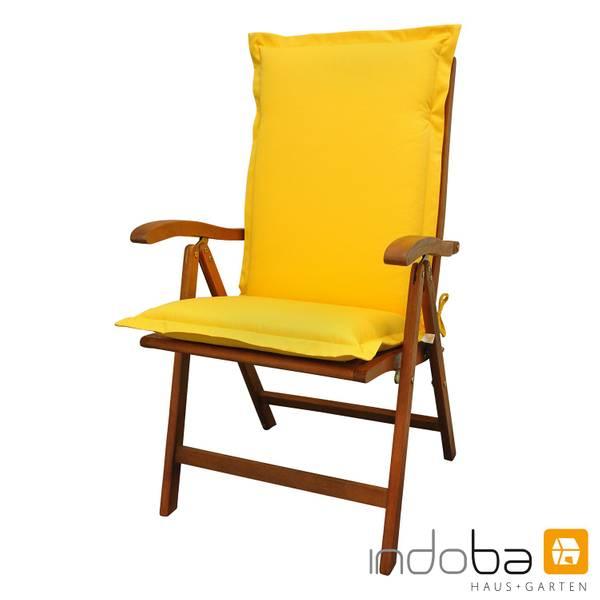indoba - Sitzauflage Hochlehner Serie Premium - extra dick - Gelb