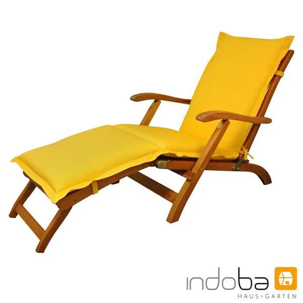 indoba - Polsterauflage Deck Chair Serie Premium - extra dick - Gelb