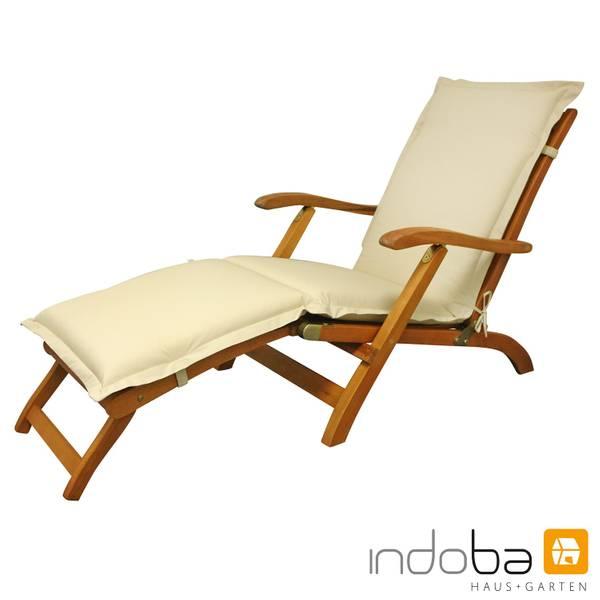 indoba - Polsterauflage Deck Chair Serie Premium - extra dick - Beige