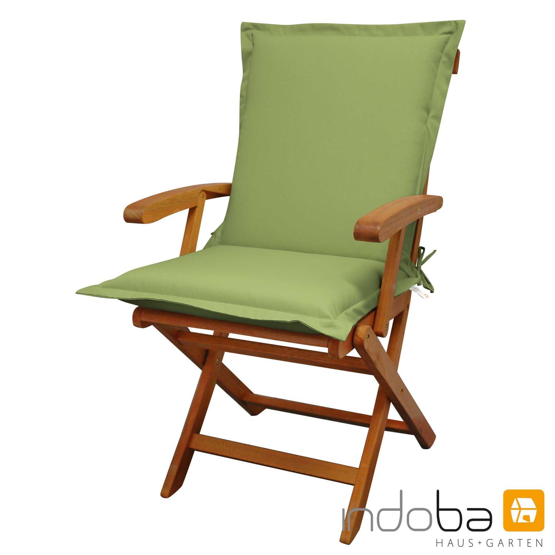 indoba - Sitzauflage Niederlehner Serie Premium - extra dick - Grün