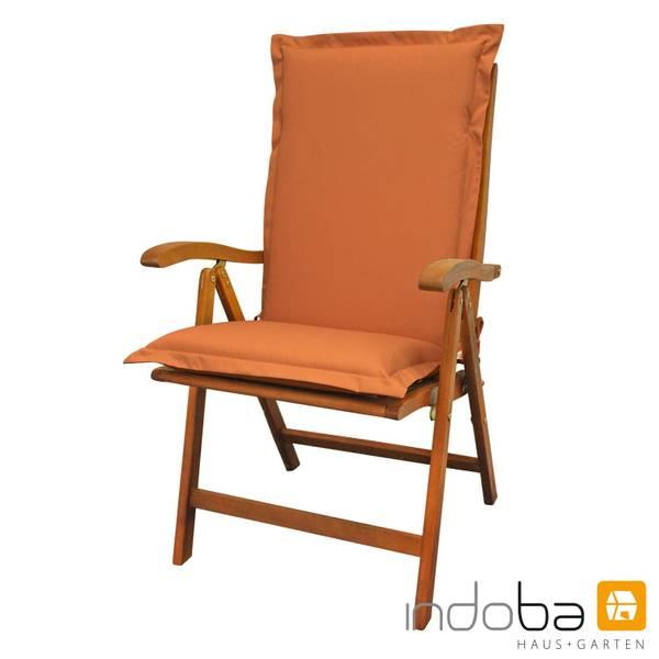 indoba - Sitzauflage Hochlehner Serie Premium - extra dick - Terra