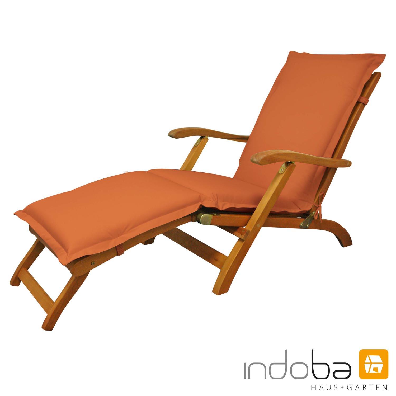 indoba - Polsterauflage Deck Chair Serie Premium - extra dick - Terra