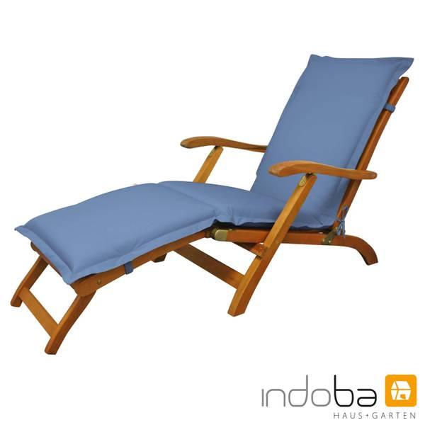 indoba - Polsterauflage Deck Chair Serie Premium - extra dick - Blau