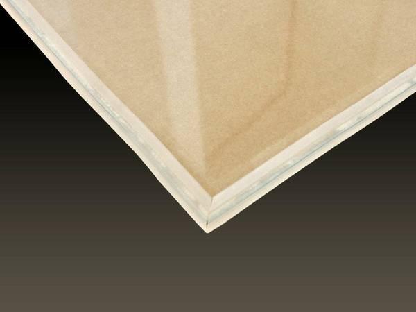 Silikon - Glasplattendichtung 5 m, Dichtlippe für Funkenschutzplatte – Bild 5