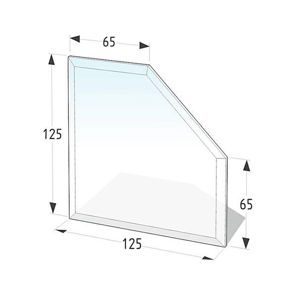 Kamin Glasplatte 8 mm Diamant 2 mit Facette