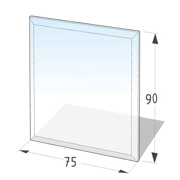 Kamin Glasplatte 8 mm Rechteck 2 mit Facette  – Bild 1