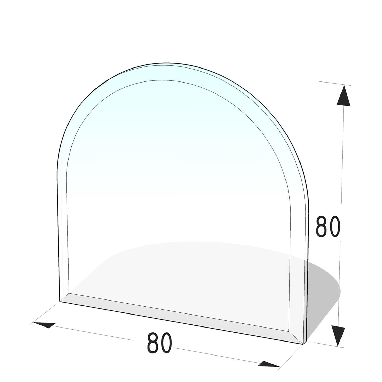 Kamin Glasplatte 8 mm Zunge 5 mit Facette