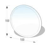 Kamin Glasplatte 8 mm Kreis mit Facette 001