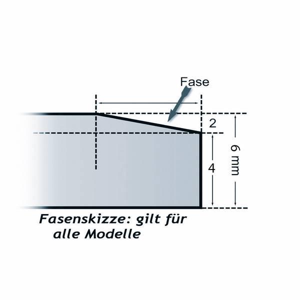 Kamin Glasplatte 6 mm Rechteck 1 mit Facette – Bild 2