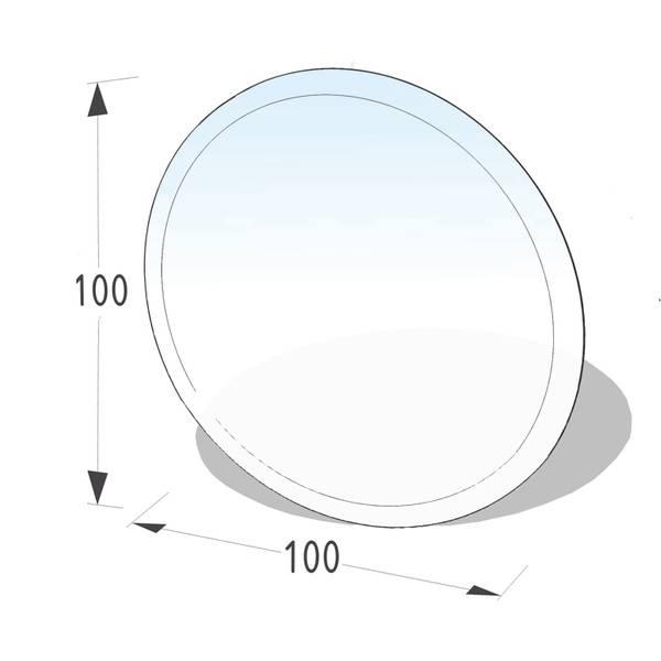 Kamin Glasplatte 6 mm Kreis mit Facette