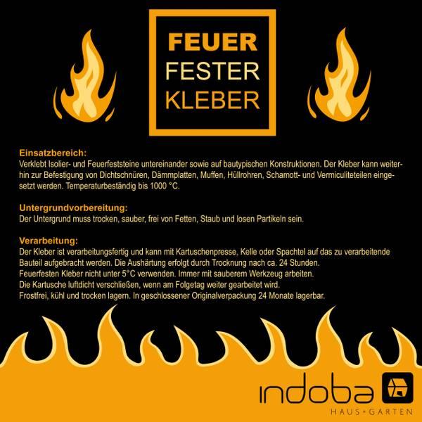 12 x Feuerfester Kleber Hochtemperaturkleber – Bild 2