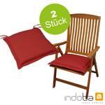 2 x indoba - Sitzkissen Serie Premium - extra dick - Rot