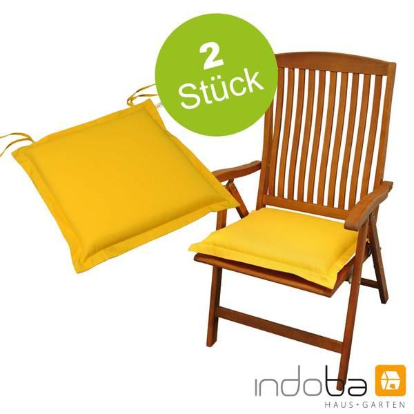 2 x indoba - Sitzkissen Serie Premium - extra dick - Gelb