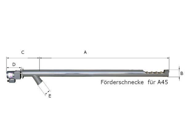 Förderschnecke für ATMOS A45 Pelletbrenner